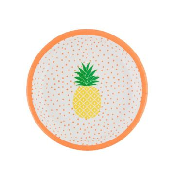 *SALE* Summer Pineapple Party Plates - pack of 8